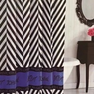 Betsey Johnson Chevron Logo Shower Curtain